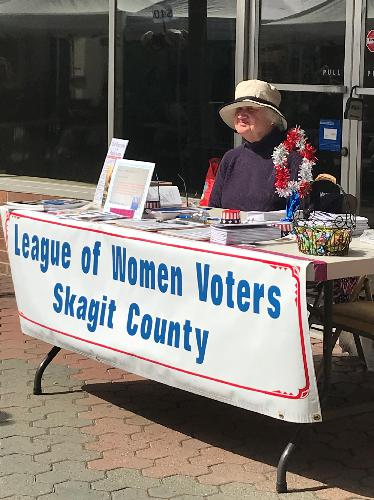 Registering Voters at 2018 Tulip Fair 2